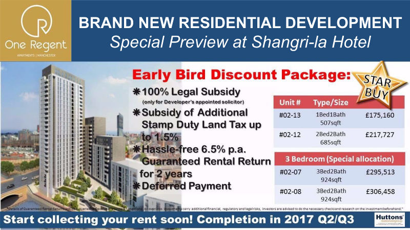1 Regent Manchester property expo in S'pore