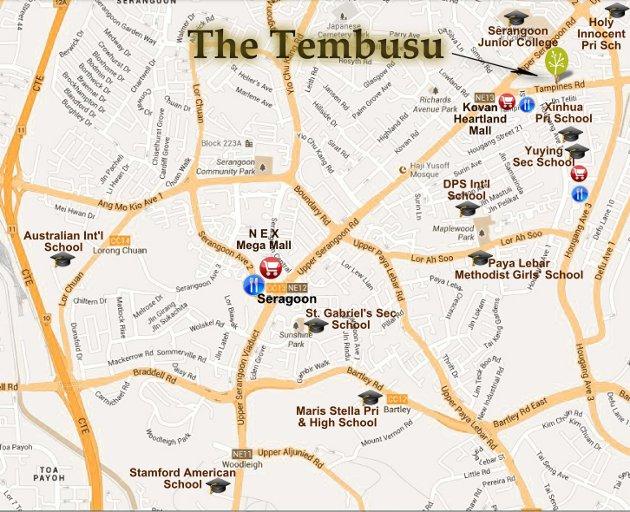 The Tembusu location map