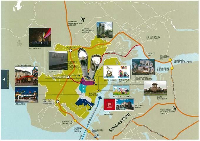 Markers Iskandar location