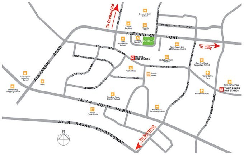 Echelon Alexandra location map