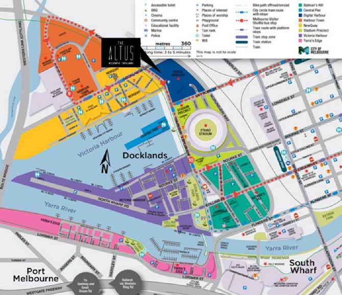 The Altus location map