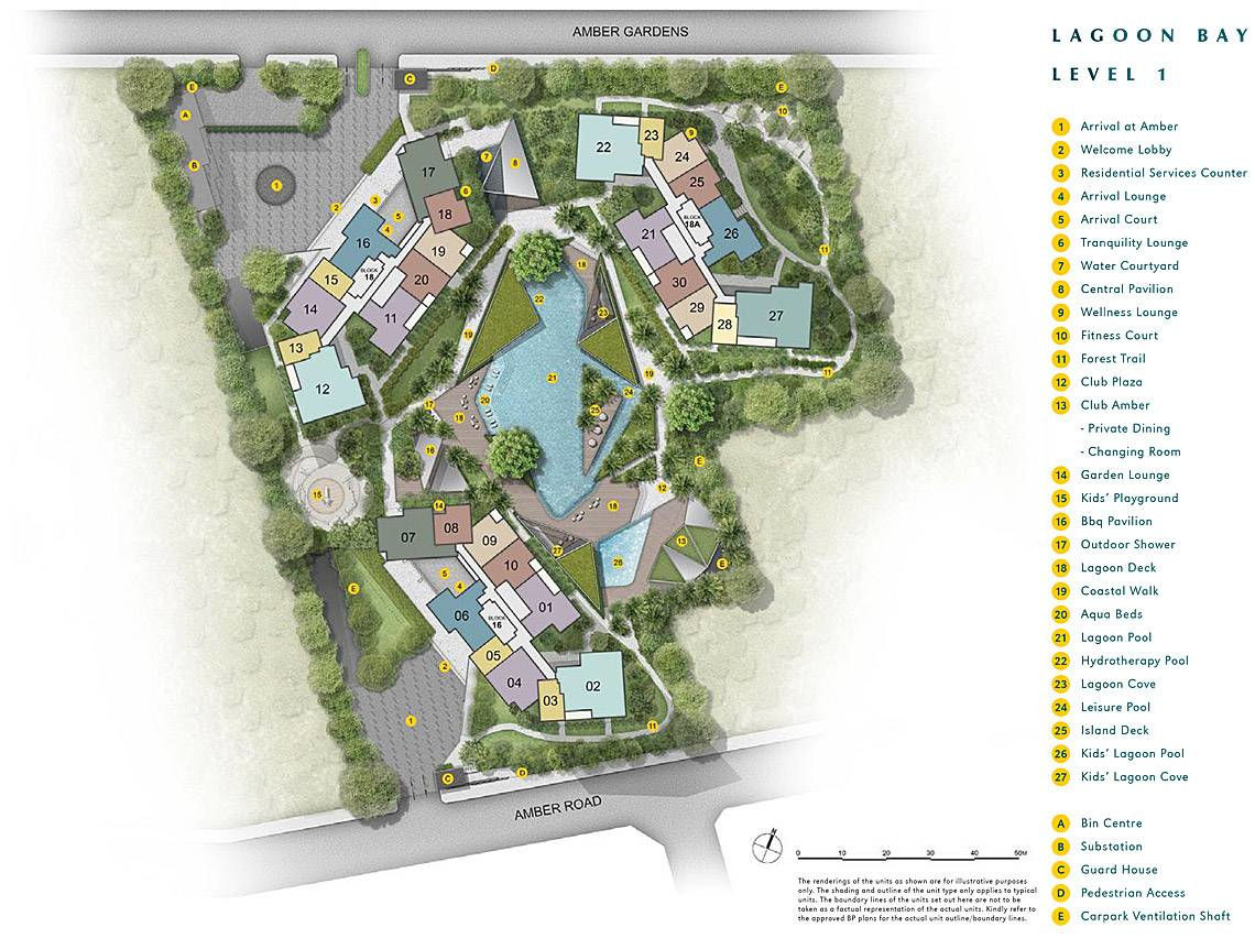 Amber Park siteplan