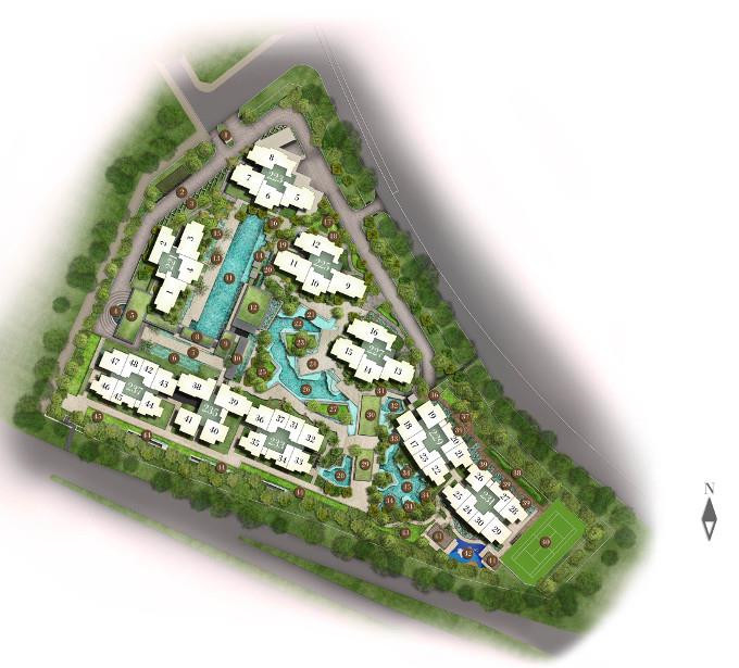 Botanique at Bartley site plan