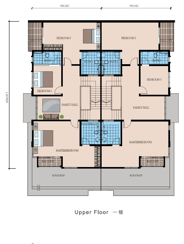 Bestari heights at nusa bestrai nusajaya luxurious 2 for Cluster house floor plan