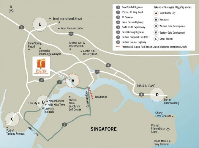 Bora Residences Tropicana Danga Bay location map