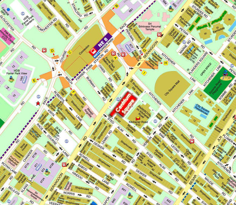 centrium square location map