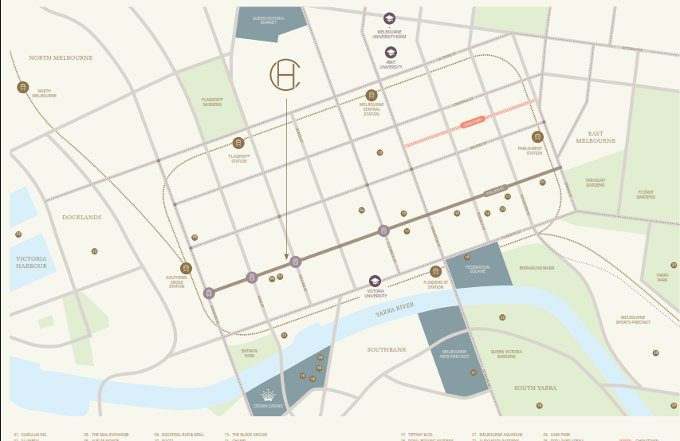 Collins House Melbourne location map