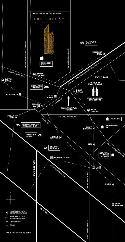 the colony by infinitum location map