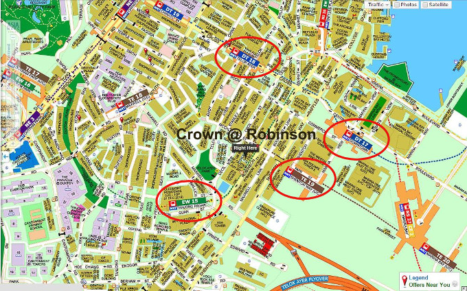 crown robinson location map