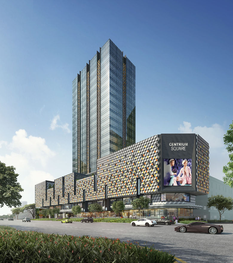 Centrium Square commercial tower at heart of Serangoon