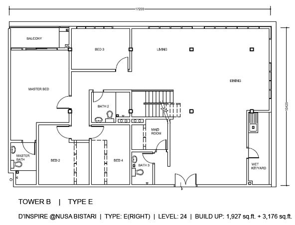Penthouse Type E floorplan