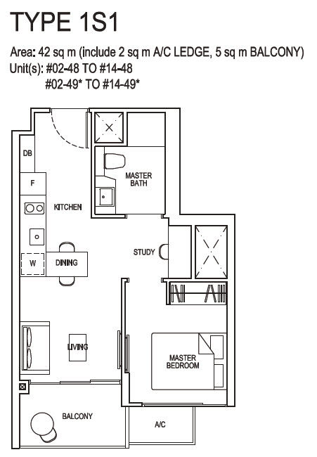 1 Bedroom plus Study