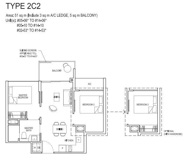 2 bedroom compact 2C2