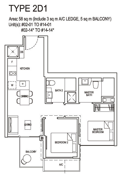 2 bedroom Deluxe 2D1
