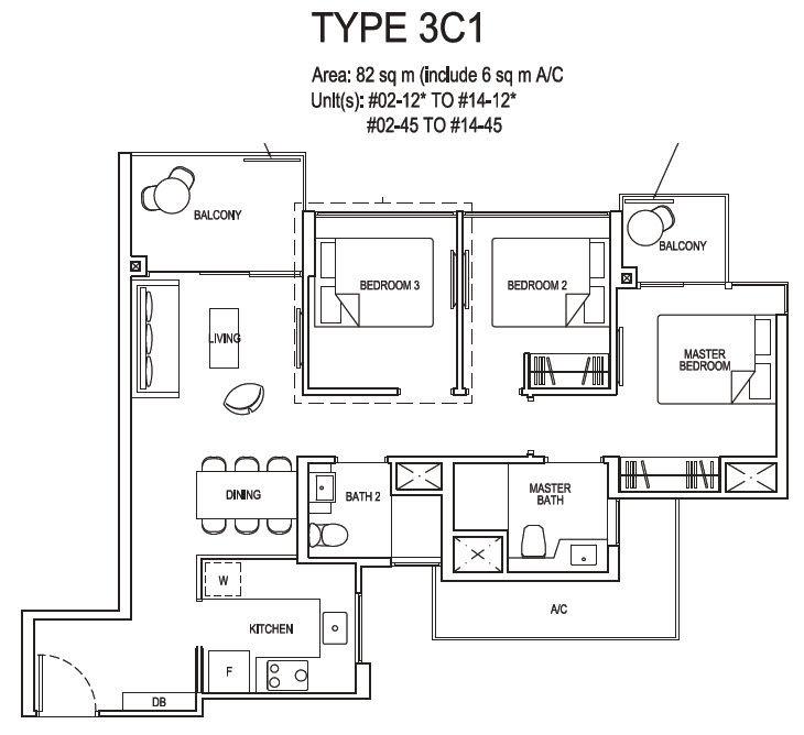 3 bedroom compact 3c1