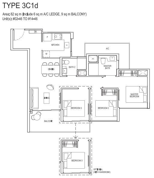 3bedroom 3C1d