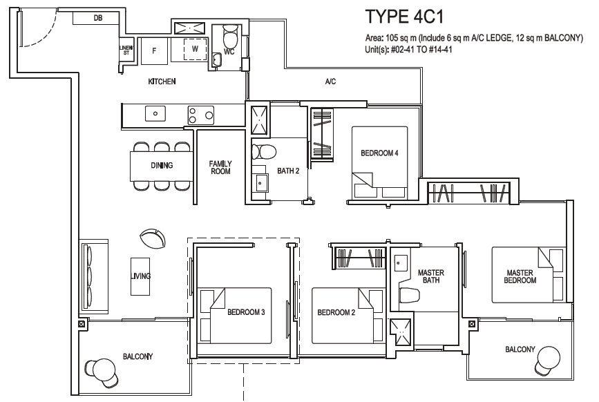 4 bedroom compact