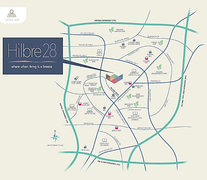Hilbre28 @ Hillside Drive location map