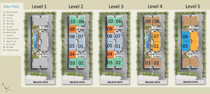 Hilbre28 @ Hillside Drive site plan
