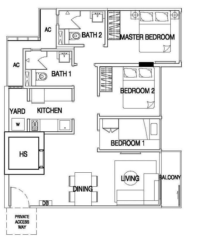 type 3A2 floor plan