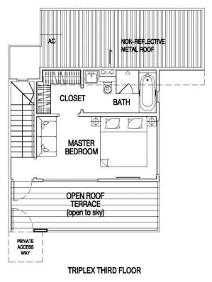 5 bedroom triplex attic floor plan