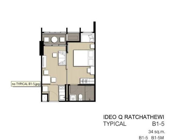 1 bedroom B1-5