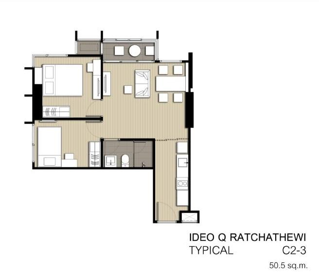 2 bedroom C2-3