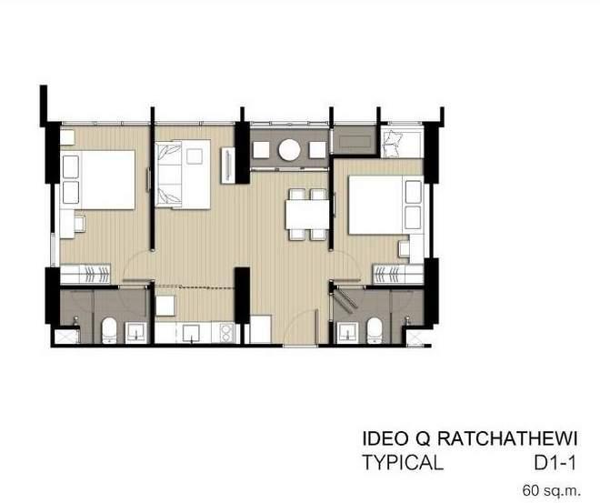2 BEDROOM 2 BATH D1-1
