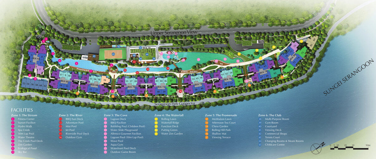 Kingsford Waterbay facilities siteplan