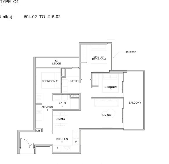 3 bedroom Dual Key Type C4