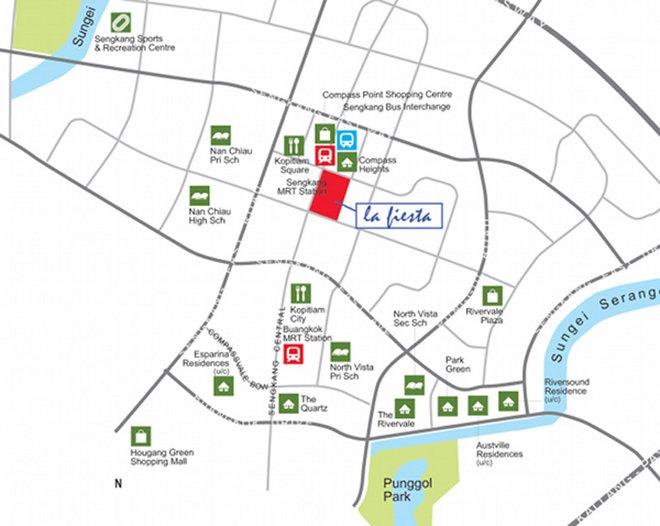 la fiesta sengakang location map