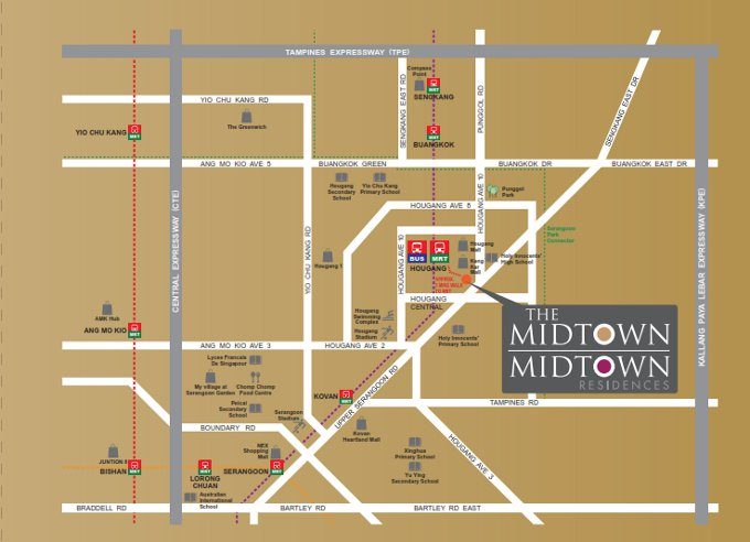 midtown location map