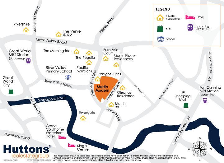 Martin Modern condo location map