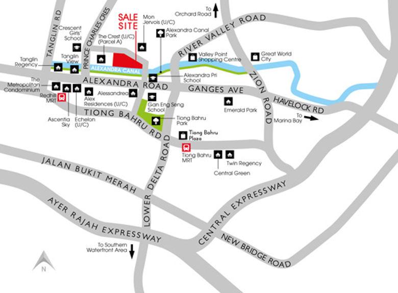 location map of Principal Garden