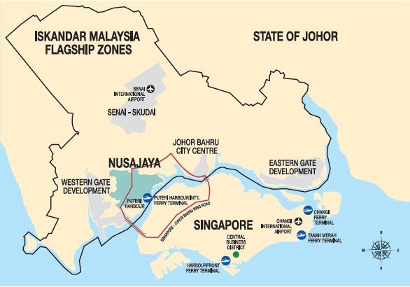 Nusajaya Location Map
