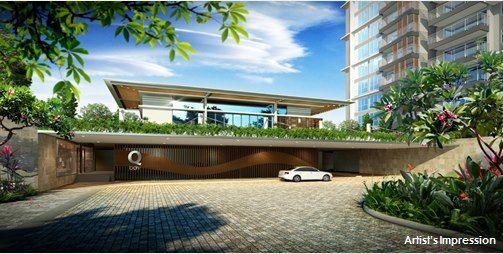 Qbay Residences Grand Entrance