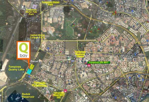 Qbay Tampines location map