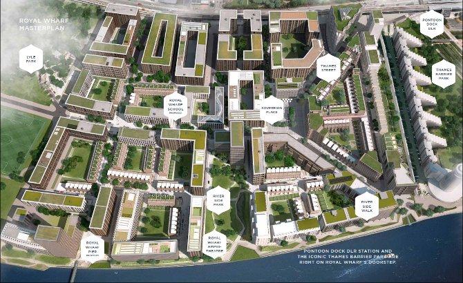 royal wharf london site plan