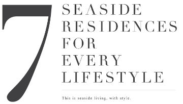 seaside residences types