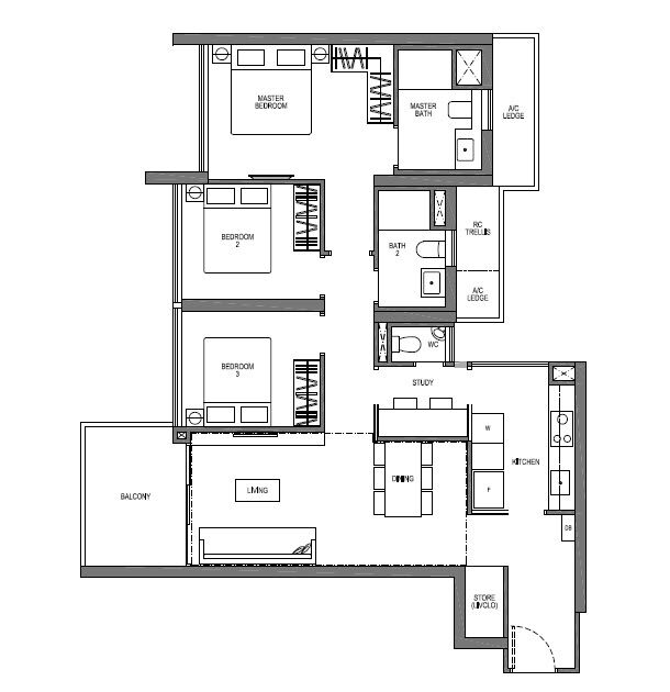 3 Bedroom plus Study VIVA