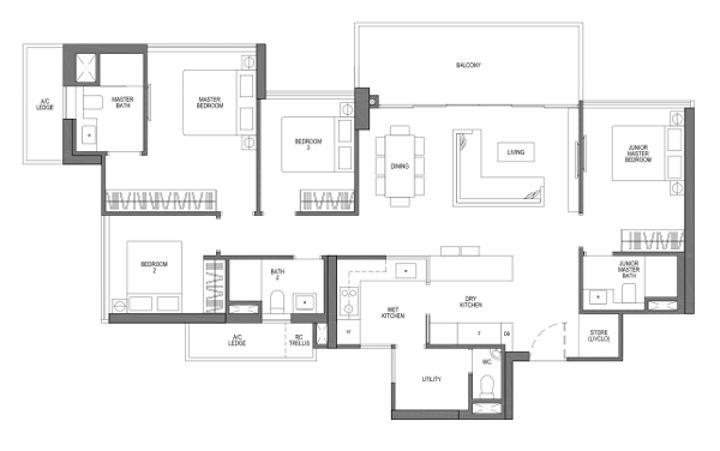 4 bedroom VISTA
