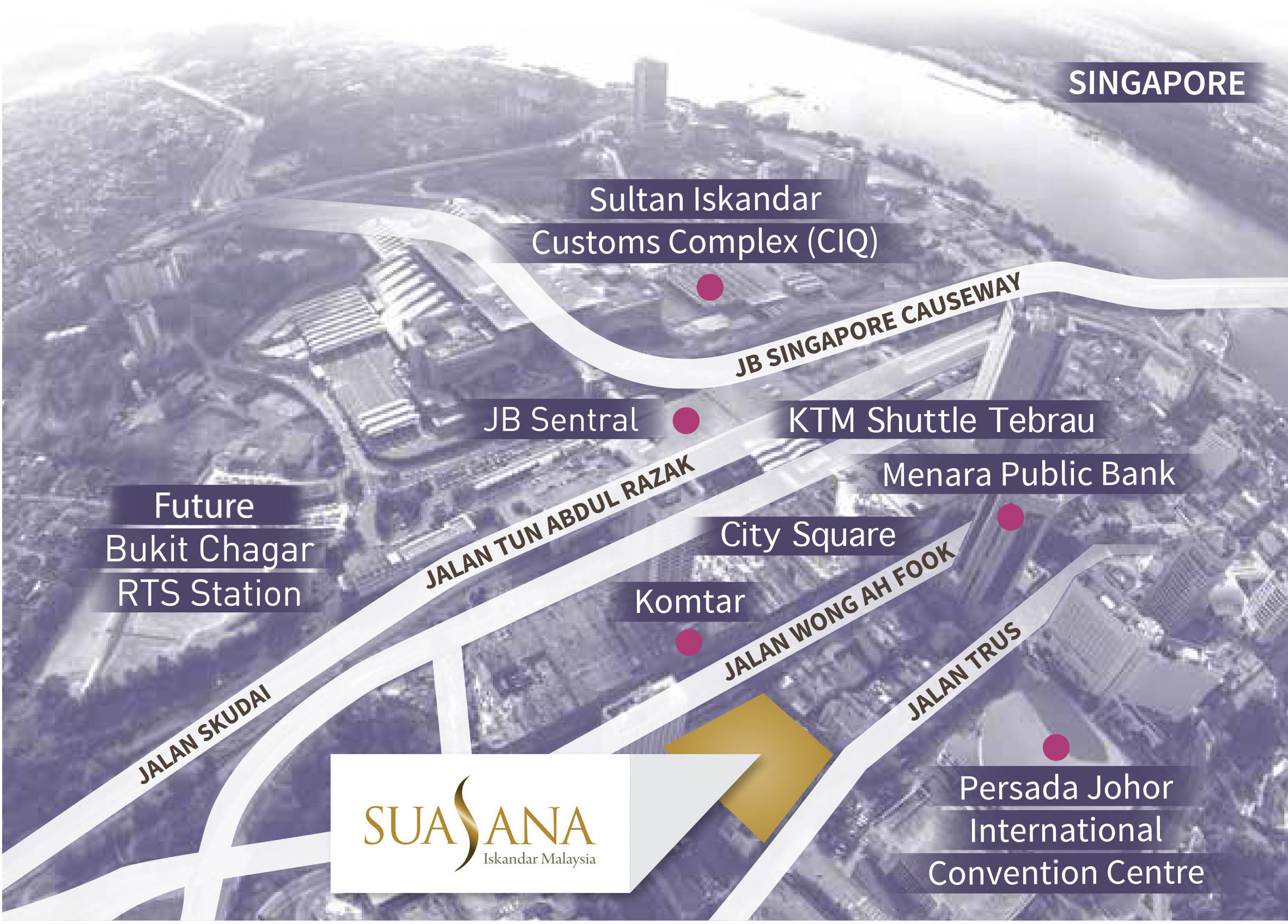 suasana location map
