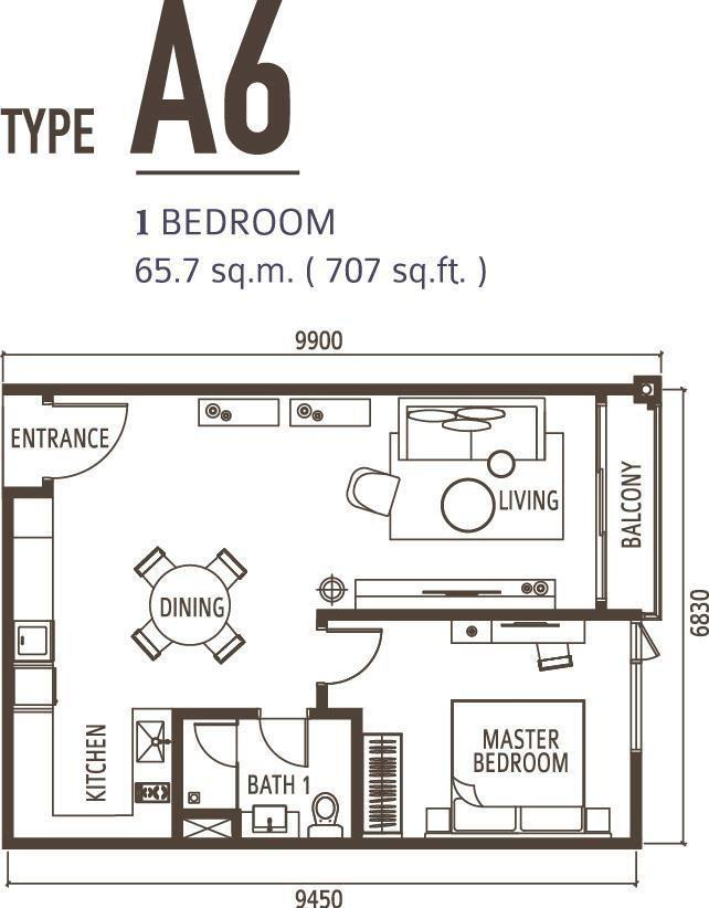 1 Bedroom Type A6