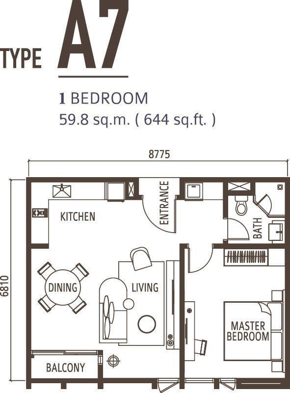 1 Bedroom Type A7