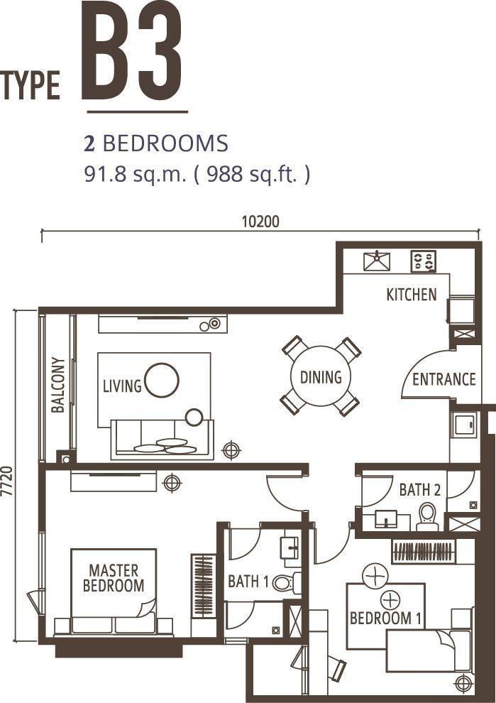 2 Bedroom Type B3