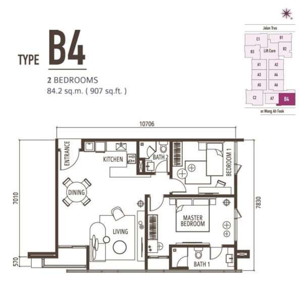 2 Bedroom Type B4