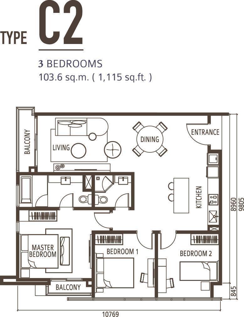 3 Bedroom Type C2