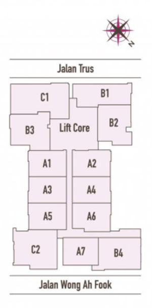 Suasana floor layout plan