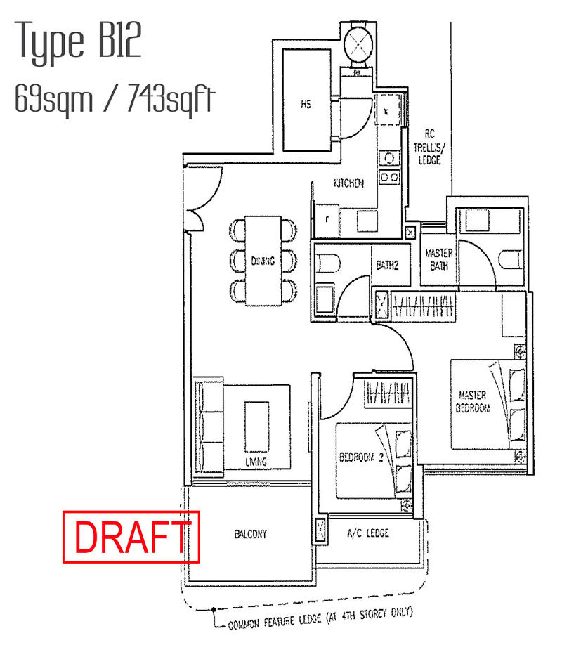 Stars of Kovan type b12 floor plan