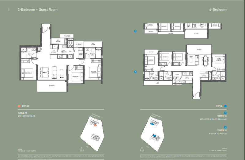 The Clement Canopy 3 Bedrm D2 and 4 Bedroom E1